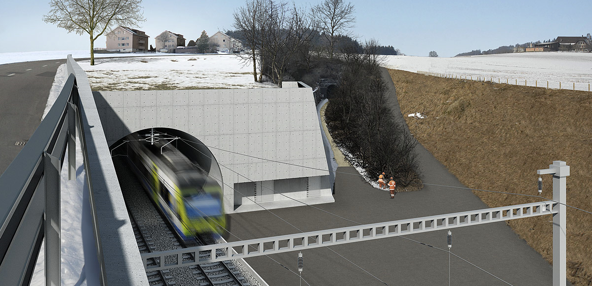 Rosshaeuserntunnel Portal Ost Rhomberg Sersa Rail Group
